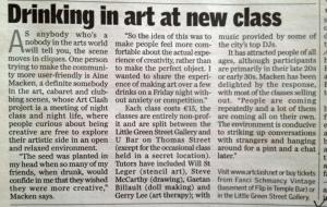 Sunday Independent Art Clash Feature