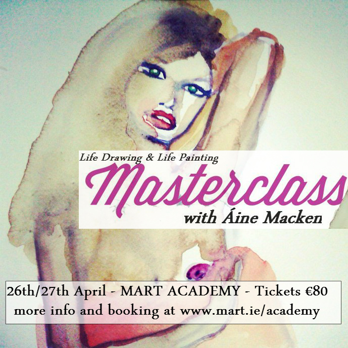 3 spaces remaining for my Masterclass at Mart this weekend (26th/27th April)